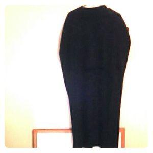 Ankle length poncho-like shaw